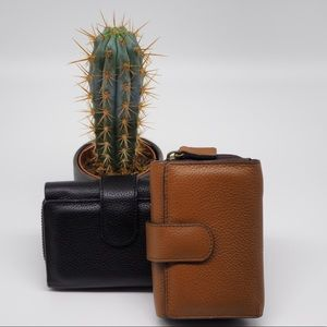 Cleo Trifold Wallet Leather